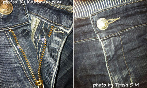 Repair Broken Zipper with No-Sew Snap Button Fastener