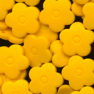 KAM Plastic Snaps Flower Flowers Shapes Size 20 Sets B10 Sunset Yellow