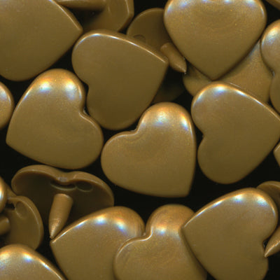 KAM Plastic Fasteners Snaps Heart Shape Hearts Shapes Size 20 B11 Gold