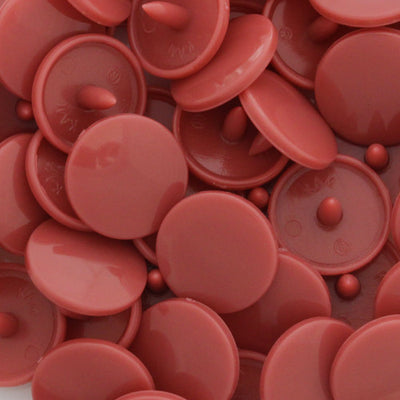 KAM Plastic Button Snaps Size 20 Regular Complete Sets B15 Dusty Rose