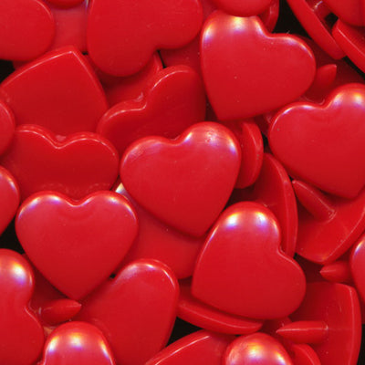 KAM Plastic Snaps Heart Shape Hearts Shapes Size 20 Sets B38 Red
