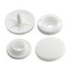 KAM Professional Plastic Snaps Large Size 22 B3 White Complete Sets