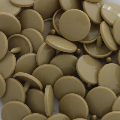 KAM Plastic Snaps Button Snap Fasteners Size 20 Sets B42 Dark Tan