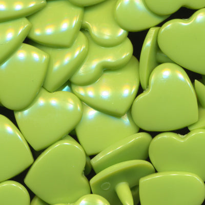 KAM Plastic Snaps Heart Hearts Shapes Size 20 Sets B44 Apple Green