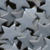 KAM Plastic Snaps Star Stars Shapes B45 Metallic Light Silver Stars