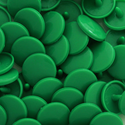 KAM Snap No-Sew Fasteners Size 20/T5 Complete Sets B51 Kelly Green