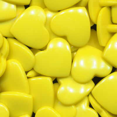KAM Plastic Snaps Heart Shape Hearts Shapes Size 20 Sets B7 Yellow