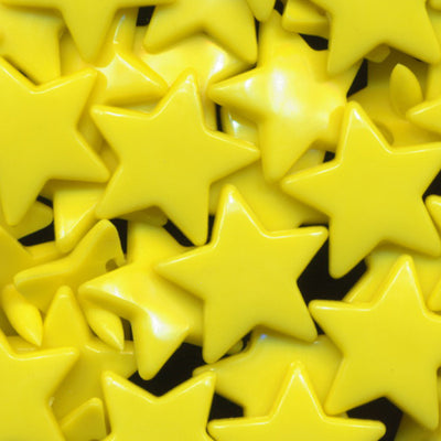 KAM Plastic Snaps Star Shaped Stars Shapes Size 20 Sets B7 Yellow
