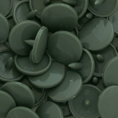 KAM Plastic Snaps Button Snap Fasteners Size 20 Sets B9 Olive Gray