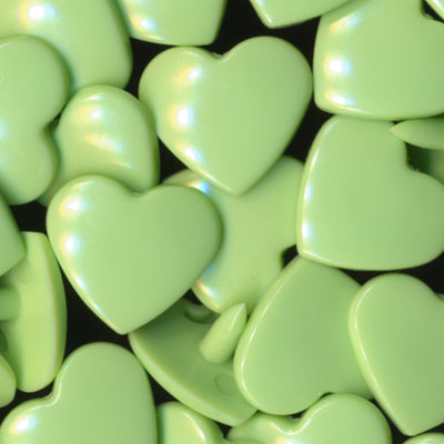 KAM Plastic Snaps Heart Shape Hearts Shapes Size 20 BG102 Grasshopper