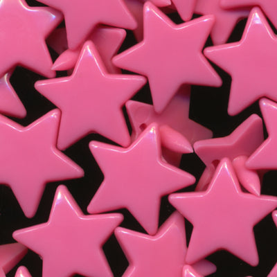 KAM Fastener Button Snaps Star Shaped Stars Shapes Sz 20 C203 Raspberry