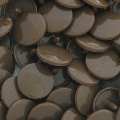 KAM Plastic Snaps Size 20 Parts Caps Sockets Studs D303 Milk Chocolate