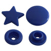 KAM Fastener Button Snaps Star Shaped Stars Shapes Cap Socket Stud Snap Set