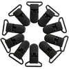 Narrow Black KAM Plastic Clips for Baby Pacifiers, Toys, Sippy Cups