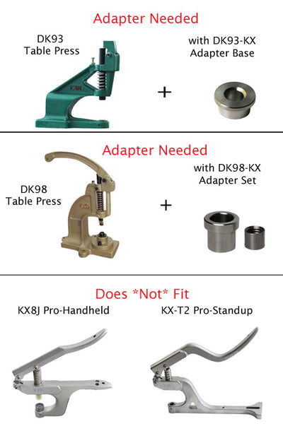 KX Press Plate Dies for Heavy Duty Table Press Only