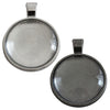 Bezel Pendant Trays w/ Glass Cover