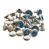 Crystal Rhinestone Rivets - Blue Zircon
