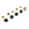 Multi-Color Crystal Rhinestone Rivets - Gold Finish FINAL SALE