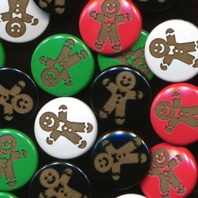 Two-Toned Engraved Gingerbread Man