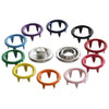 Size 16L Open-Ring Metal Snaps Multi-Color Pack