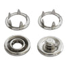Size 16 Open-Ring Metal Snaps - Silver (1000 Sets)