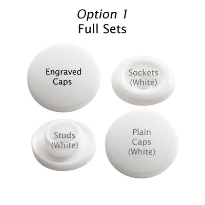 Two-Toned Engraved Button (White)