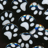 Two-Toned Engraved Paw Print (Black)