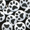 Two-Toned Engraved Paw Print (White)