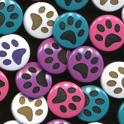 Two-Toned Engraved Paw Prints (B3 B41 B46 B47)