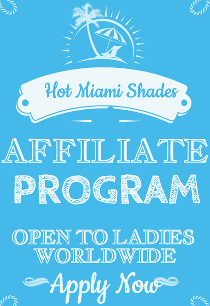 Join the LARGEST PARTY on Instagram today! The Hot Miami Shades Affiliate Program