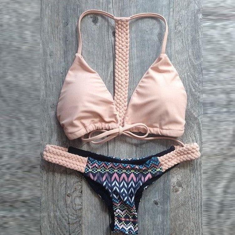 Powder Pink Bikini Set - 3 Color Options - Also available in Blue