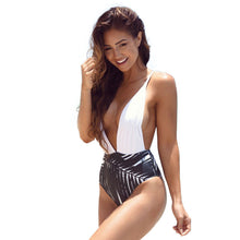 Deep V Palm Swimwear - 1 Piece