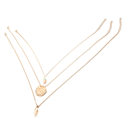 Hot Miami Shades Long Chain Round Charm Choker
