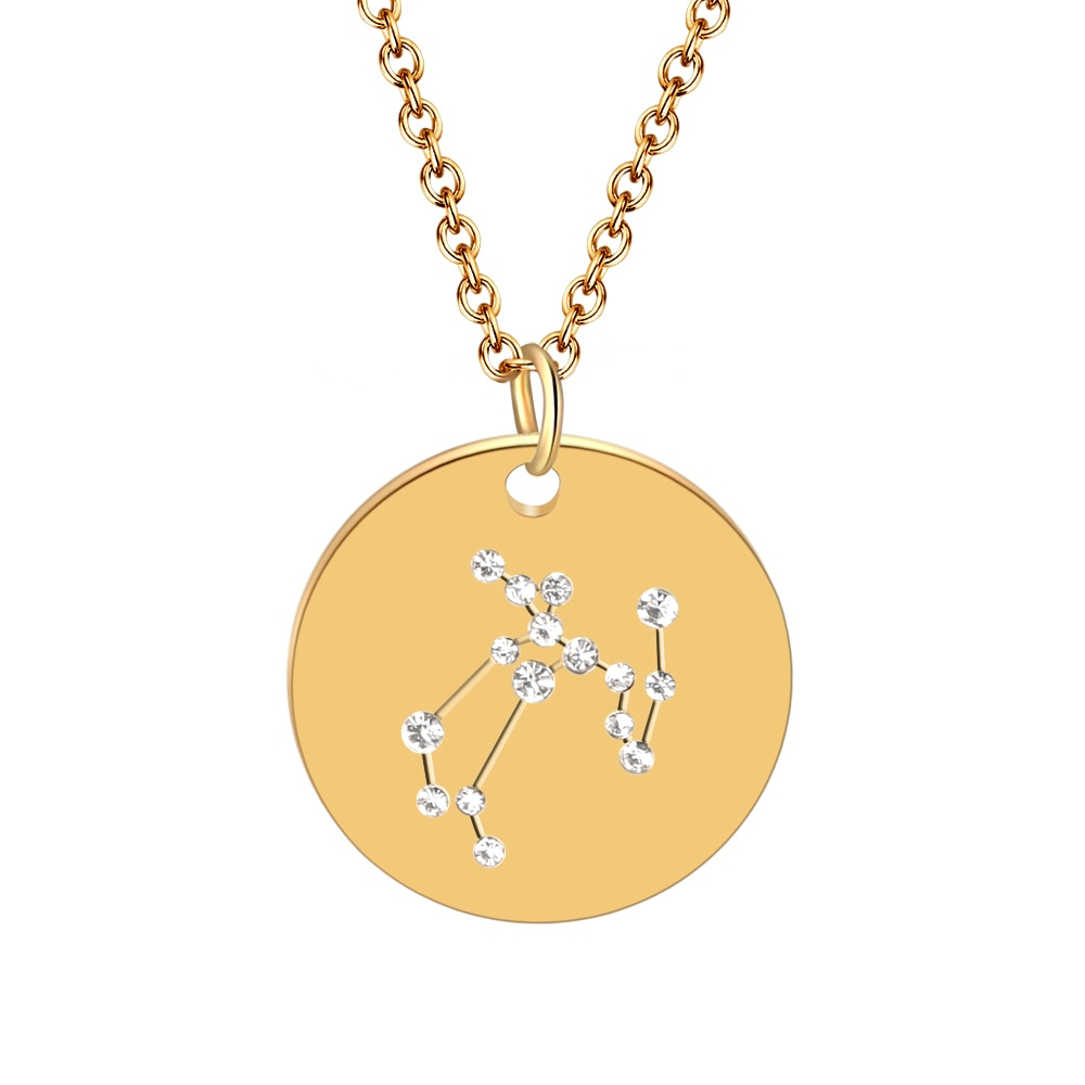 Hot Miami Shades Constellation Jewelry Stainless Necklace Sagittarius