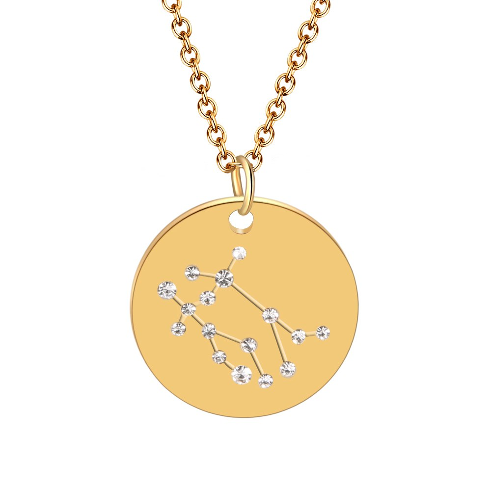 Hot Miami Shades Constellation Jewelry Stainless Necklace Gemini