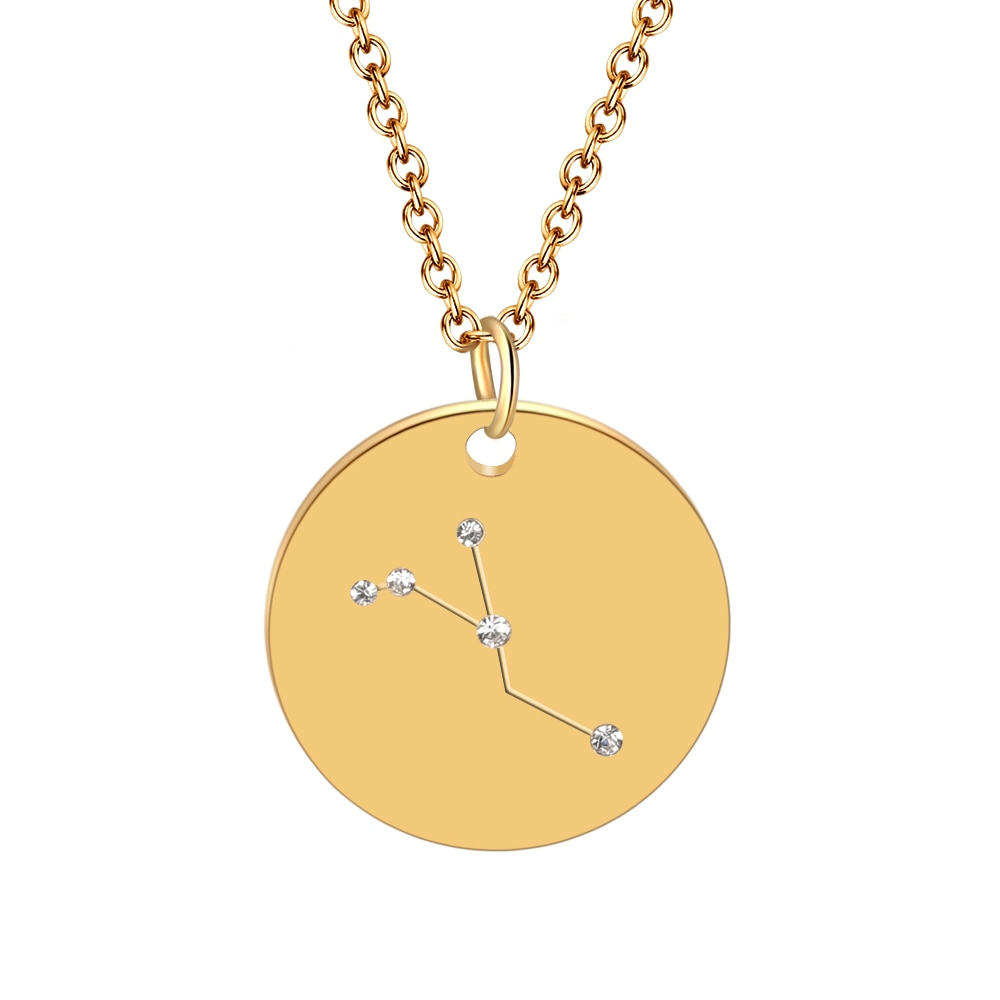 Hot Miami Shades Constellation Jewelry Stainless Necklace Cancer