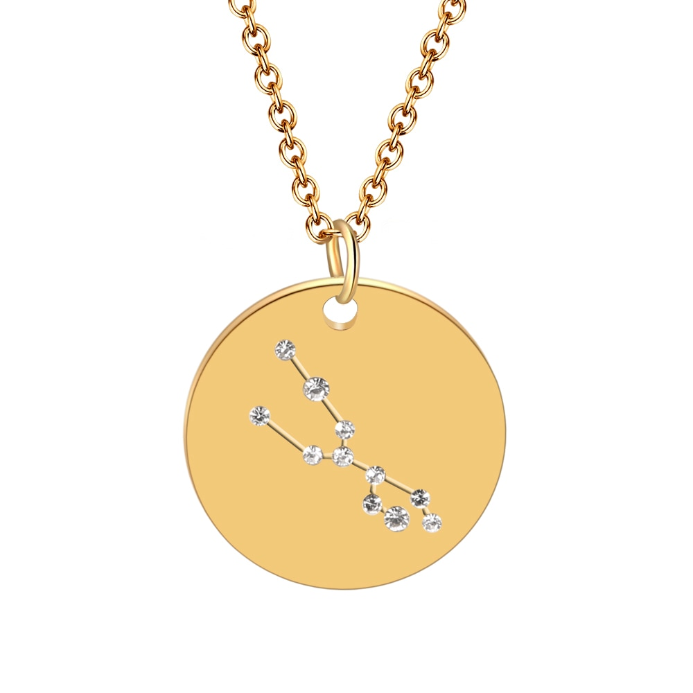 Hot Miami Shades Constellation Jewelry Stainless Necklace Taurus