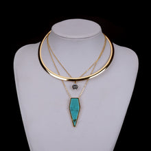 Collar Necklace - Turquoise Blue