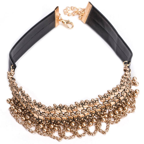 Chain Choker - Silver or Gold Details