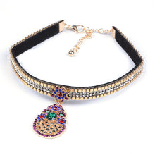 Oval Choker - Multi or Red