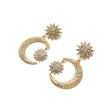 Moon and Star Statement Earring