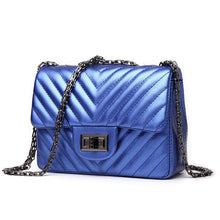 Luxury Pleated Handbag in Electric Blue, Purple, Black, Electric Silver - A Best Seller