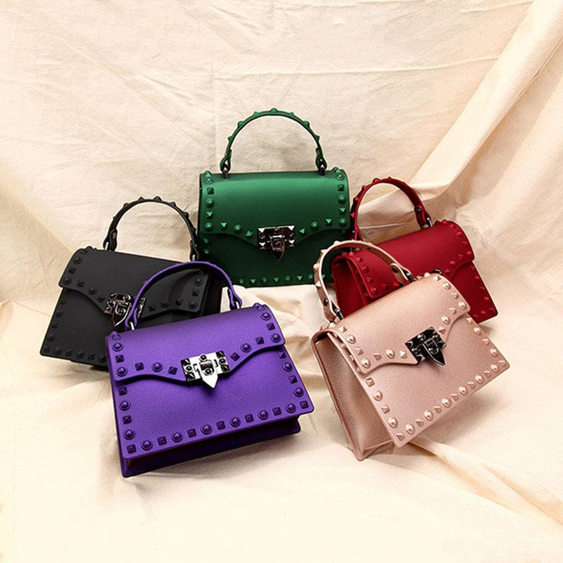 48bb317a3142 ... Famous Jelly Spike Handbag - Inspirational Jelly Tote with many color  options and 2 sizes ...