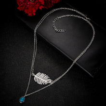Hot Miami Shades Feather Pendant Stone Necklace