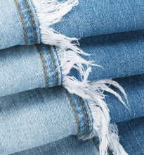Fringe High Waist Womens Washed Jeans - PLUS SIZES AVAILABLE! 2 Tone Washed Womans Jeans with Light Fringe - Ombre Jeans - Denim Jeans