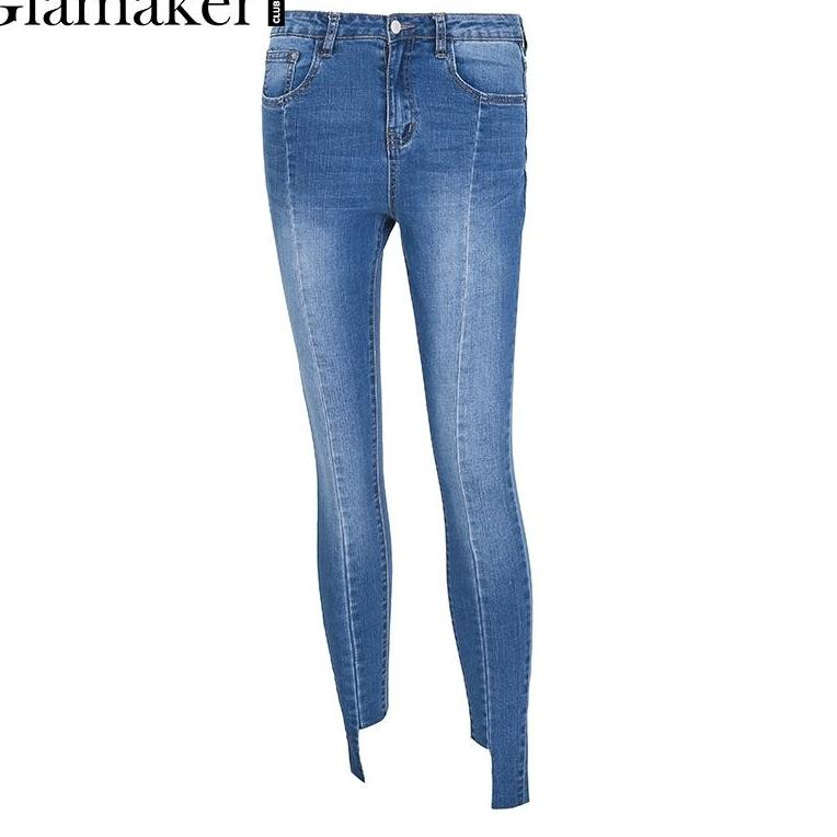The Cutest Summer Jeans - Irregular Bottom Womans Jeans - Different Washes Womans Denim Jeans - Womans Stretch Jeans