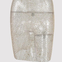 Sexy Transparent Crystal Pencil Skirt - See Through Skirt with Crystals - Champagne or Silver with Clear Crystals