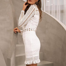 Hallow White Lace Dress - Elegant Ruffle Dress - Mini Dress - Ruffled Mini Dress  - White Mini Dress