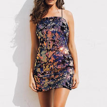 Sexy Mermaid Sequin Dress - Beautiful Sunset Shades - Sequin Mini Dress - Soft Material - Party Dress