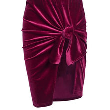 Sexy Bow Velvet Skirt - Maroon/Purple, Green, Navy Blue